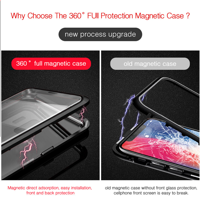 Image 4 - 360 Full Magnetic Case for Xiaomi mi 9t Case mi9t Pro Glass Case for Xiaomi Redmi K20 Pro Case Magnet Tempered Glass Cover-in Fitted Cases from Cellphones & Telecommunications