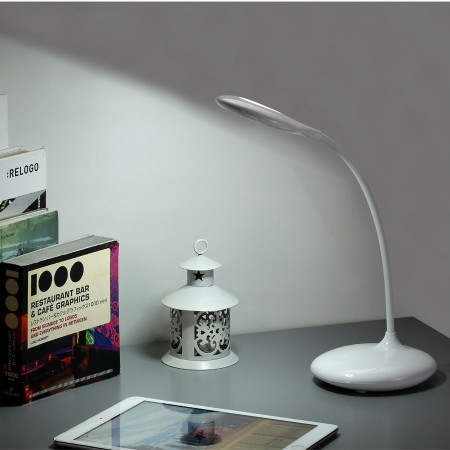 Soft Eye Care Led Desk Lamp Brightness Adjule Touch Sensor