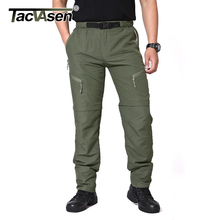 23bc032563 TACVASEN Men Brand Travel Pants Removable Quick Drying Pants Male Summer  Casual Short Pants Breathable Cargo
