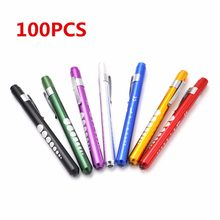 100pcs/set Mini Medical Surgical Doctor Nurse Emergency Reusable Pocket Pen Light Torch Flashlight For Working Camping(China)