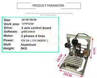 PCB DIY 1309 CNC מכונת כרסום עץ גילוף מכונת חריטה מיני PVC מיל חרט תמיכה GRBL שליטה, רוסיה משלוח מס