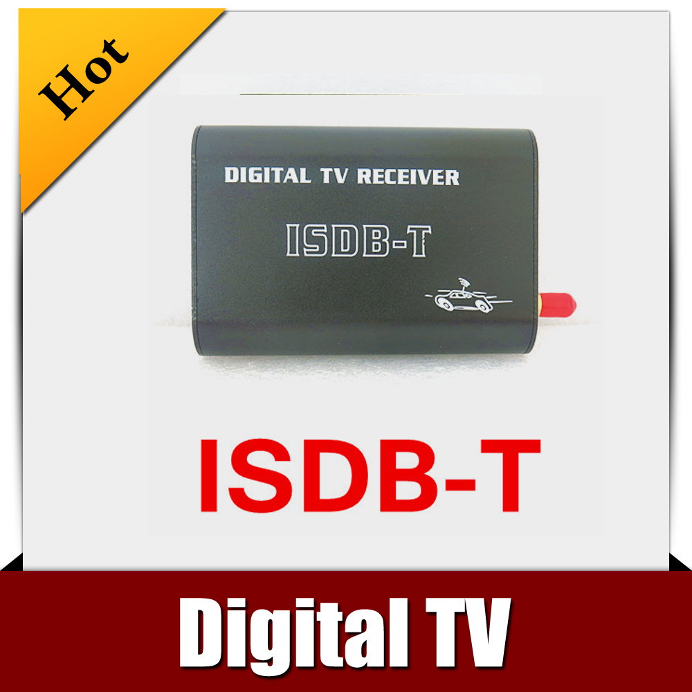 Car ISDB-T MOBILE DIGITAL TV TUNER Receiver for Brazil/South America isudar digital tv receiver for car tv tuner isdb t 2 way video out put for japan brazil south america free shipping