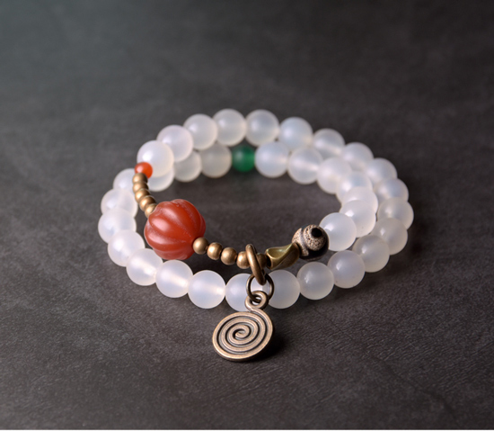 Red-Pumpkin-Agate-Mixed-Buddha-Eyes-Bead-bracelet-Tibetan-Buddhism-Zen-Healing-brass-beads-White-Grey-Agate-Friendship-Jewelry (13)