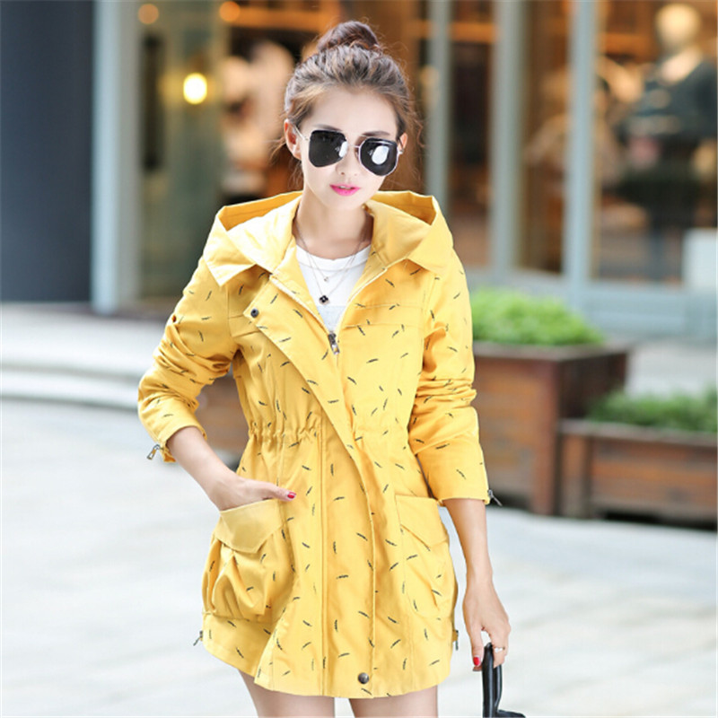 2018 English new spring clothing spring dress coat Long Sleeved printing in long sleeved cotton windbreaker jacket
