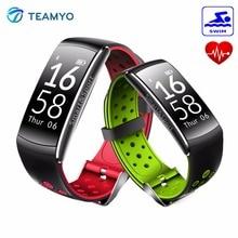 Teamyo Спорт Смарт Группа фитнес-браслет, трекер активности с ходьба Бег Плавание Баскетбол умный Браслет Водонепроницаемый