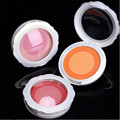 1 Pc  Newly Double-color Portable Round Makeup Blush Blusher Powder Palette