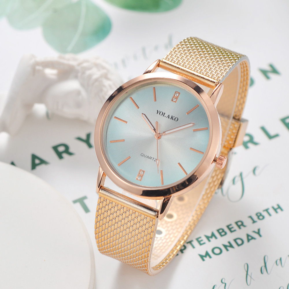 YOLAKO Top Brand Women's Watch Fashion Luxury Wrist Dress Watch Women Ladies Watch Reloj Mujer Women Bracelet Relogio Feminino