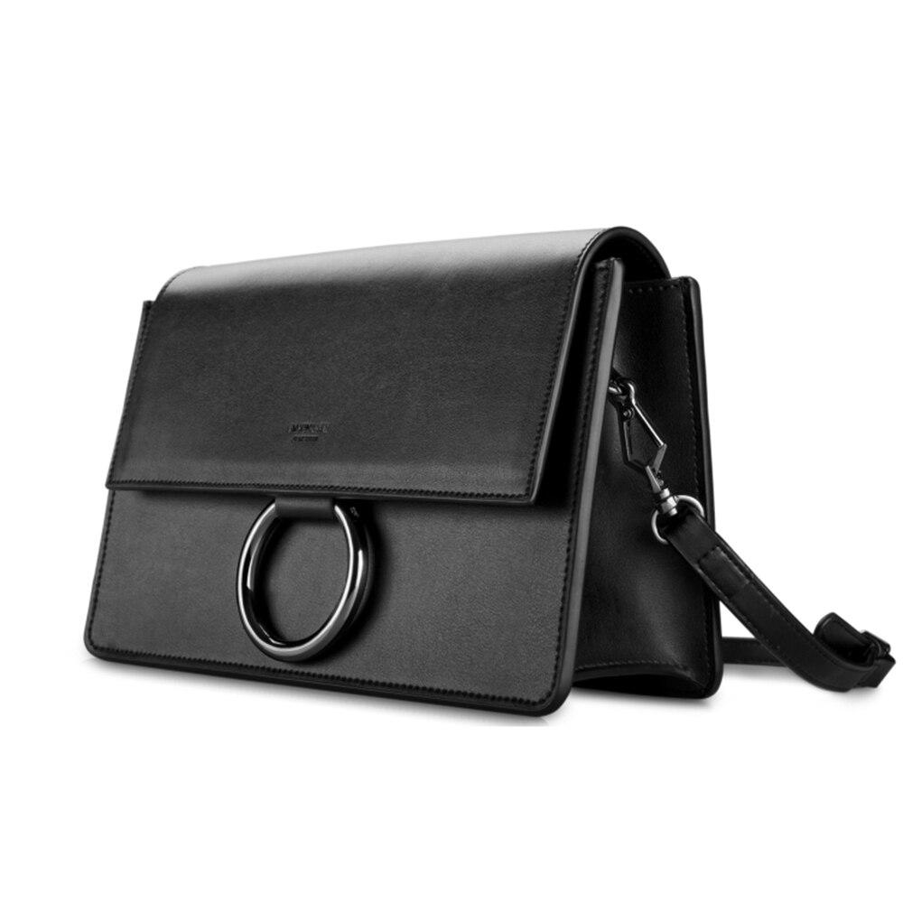 Circle Ring Element Women Single Shoulder Bag All Match Black Sling Bag