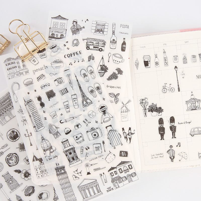 6 Sheets/pack Fun Soldiers Decorative Stationery Stickers Scrapbooking DIY Diary Album Stick Label