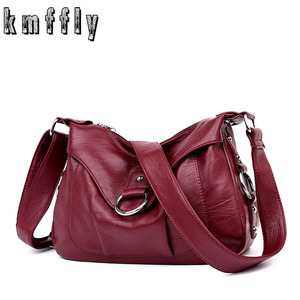 Image 1 - 高級ハンドバッグの女性のデザイナーソフトのレザーハンドバッグショルダーバッグ女性 2019 クロスボディバッグ嚢