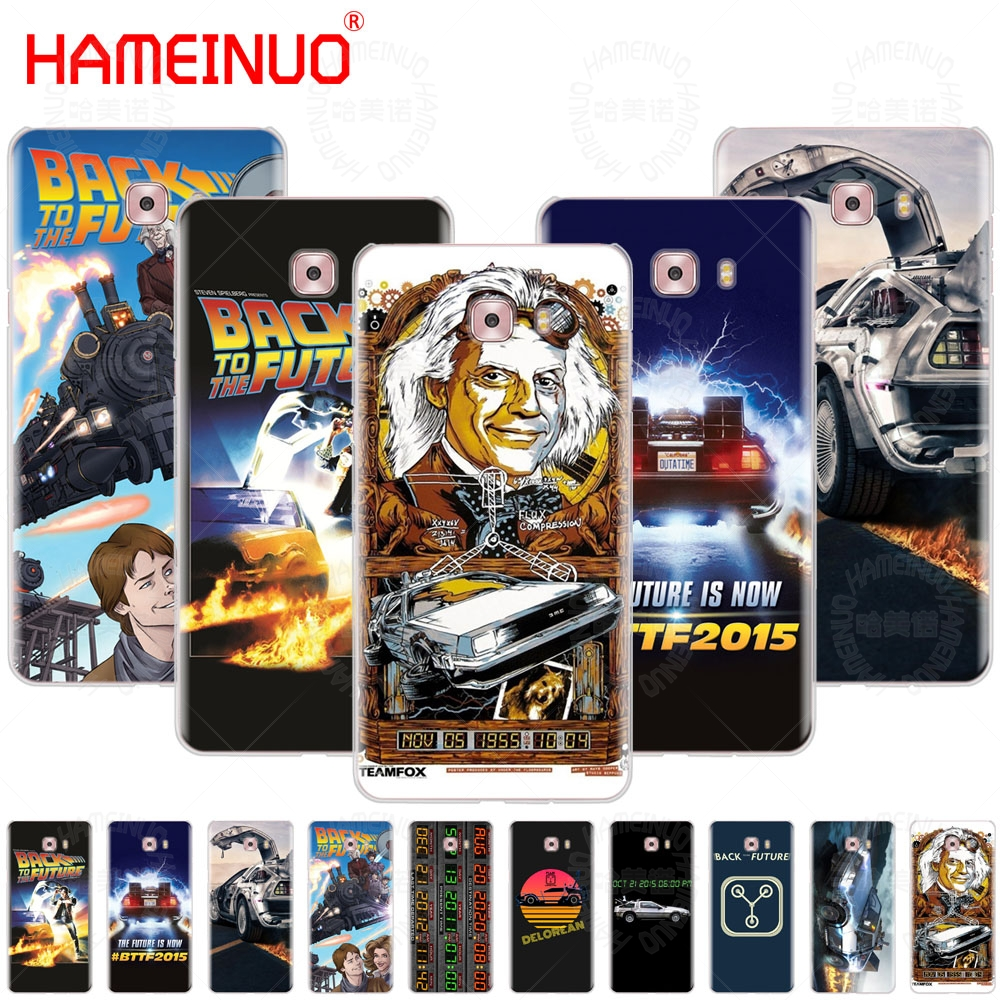 HAMEINUO Delorean Back To The Future time machine cover phone case for Samsung Galaxy C5 C7 C8 C9 C10 J2 PRO 2018