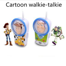 NEW Arrive Cartoon Walkie Talkie Communication Toy Cartoon for Children Kids Gift Durable Handheld Open Area