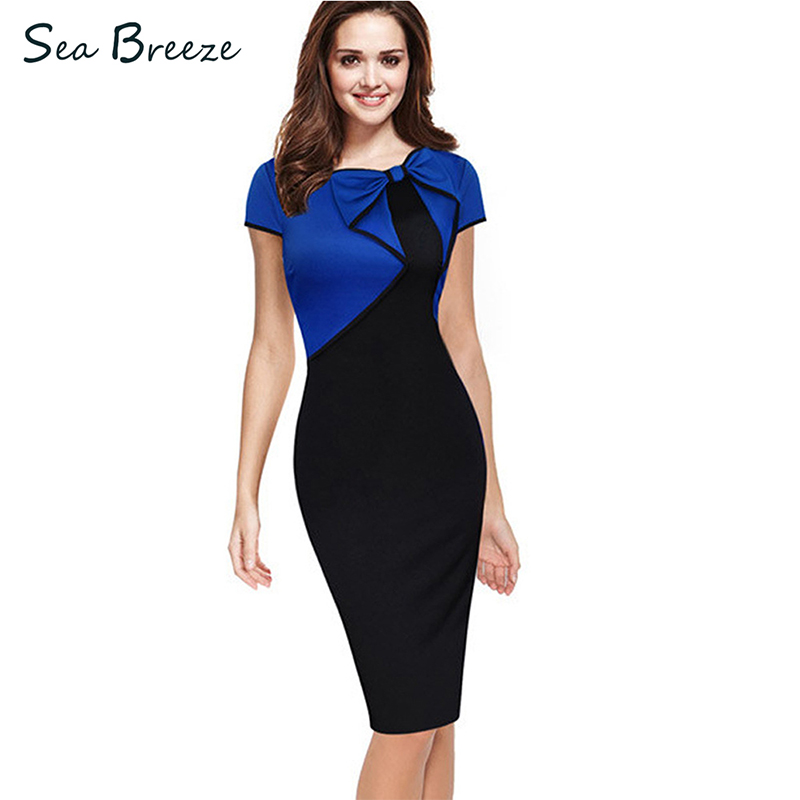 Sea Breeze Brand Summer Women New Sexy Round Neck Bow