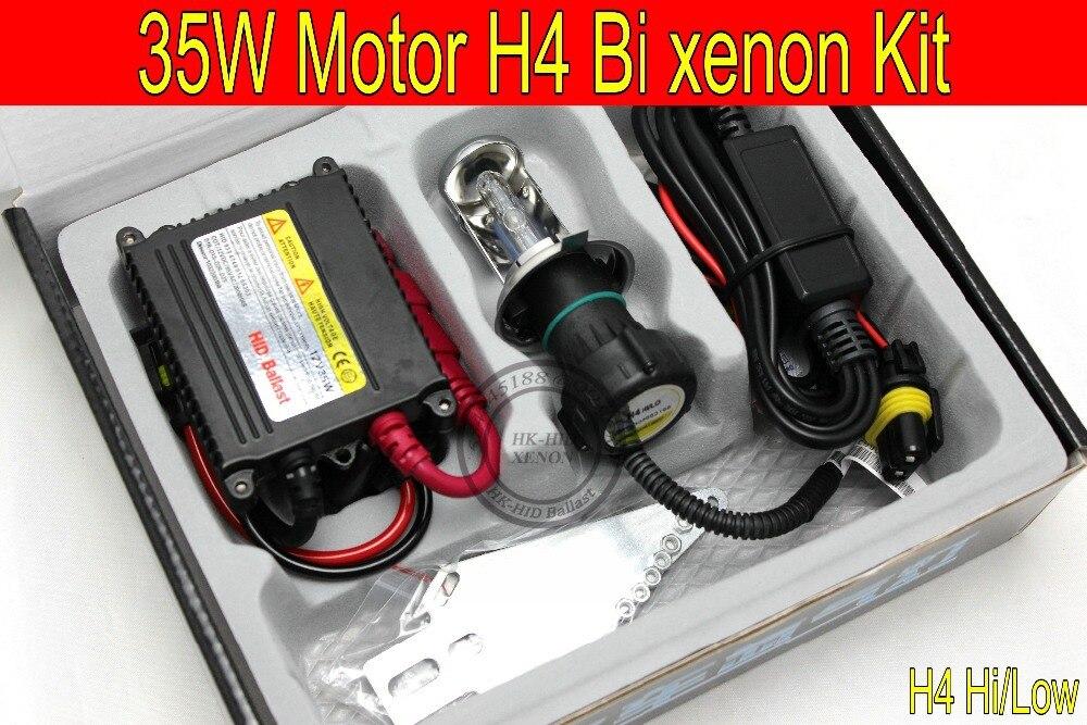 Free Shipping 1 set Top quality 35W H4 Hi/low bi xenon Motorcycle HID Conversion Kit/Xenon Kit,3000K,4300K,6000K,8000K,10000K