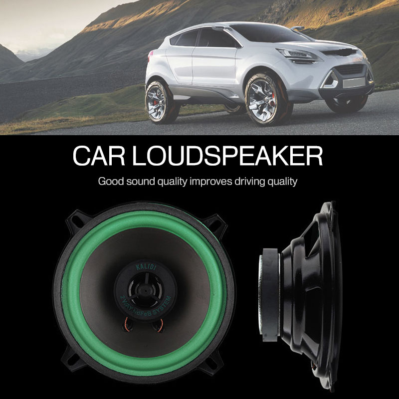 Car Audio 4 Inch Subwoofer Waterproof Audio Bass Car Coaxial Car Speakers Accessories Black High-End