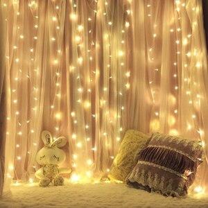 Image 5 - 3x 3/6x3 LED Eiszapfen Fee String Licht Weihnachten LED Girlande Hochzeit Party Fairy Lichter fernbedienung vorhang Garten Terrasse Decor