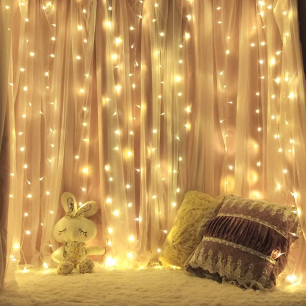 Image 5 - 3x3/6x3 LED Icicle Fairy String Light Christmas LED Garland Wedding Party Fairy Lights Remote control Curtain Garden Patio Decor-in LED String from Lights & Lighting on