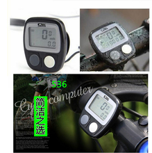 New Arrival Waterproof Digital LCD Bike Computer Cycle Bicycle  Speedometer Odometer free shipping