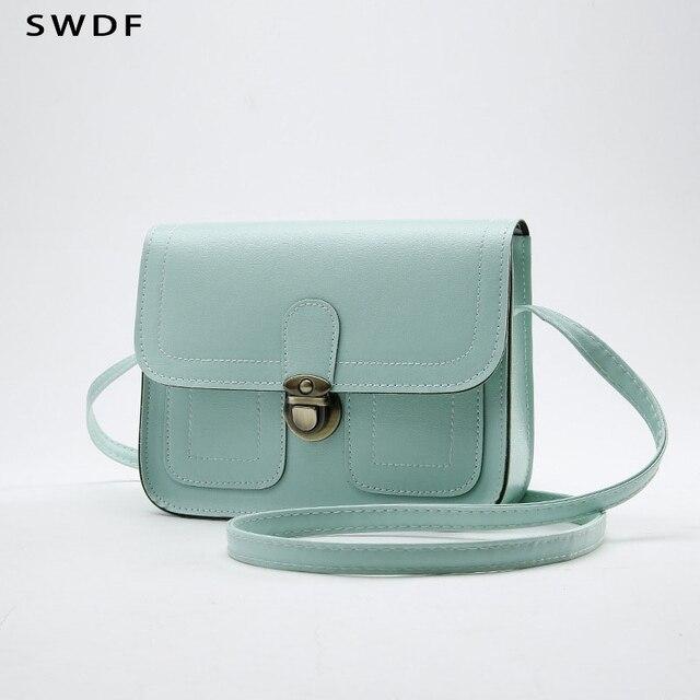f5a3e6fdb9eb SWDF 2018 новая маленькая квадратная сумка женская Автомобильная линия модная  сумка ретро сумка через плечо сумка
