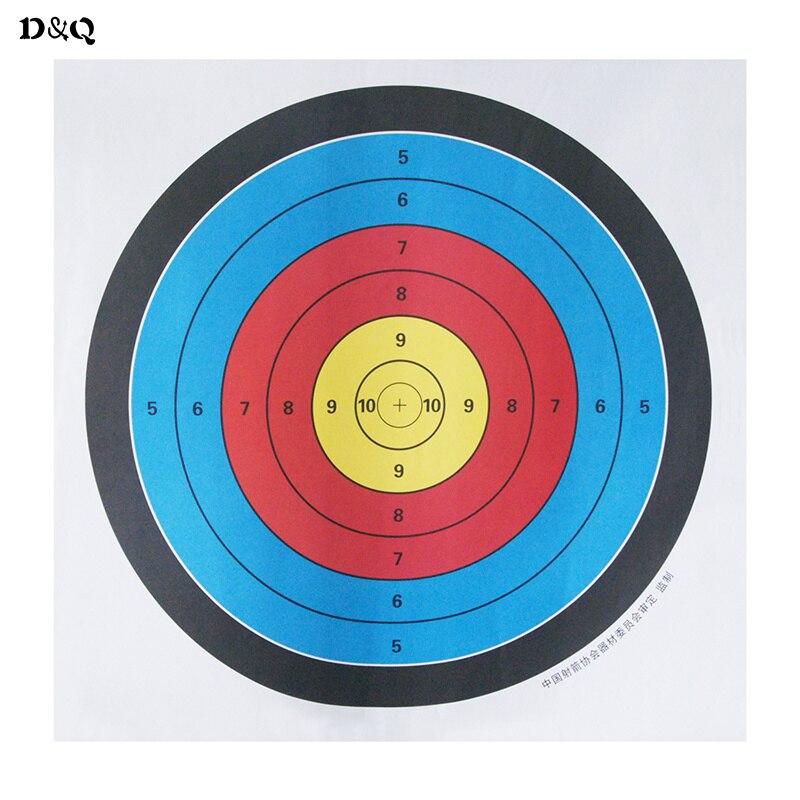 5pcs Lot 23 6 X23 6 60x60cm Standard Archery Target Paper Full