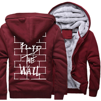 2018 New Arrival Hoodies For Men Print Pink Floyd The Wall Fashion Thick Tracksuit Harajuku Brand