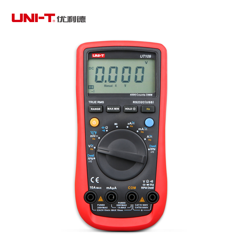 UNI-T UT108 Handheld Automotive Multi-Purpose Meters LCD AC/DC Meter multimeter  цены