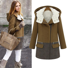 Зимние куртки, женское длинное кашемировое пальто, женские толстые шерстяные пальто на молнии, Женская куртка, парка, тонкая верхняя одежда, шерсть и смесь 50