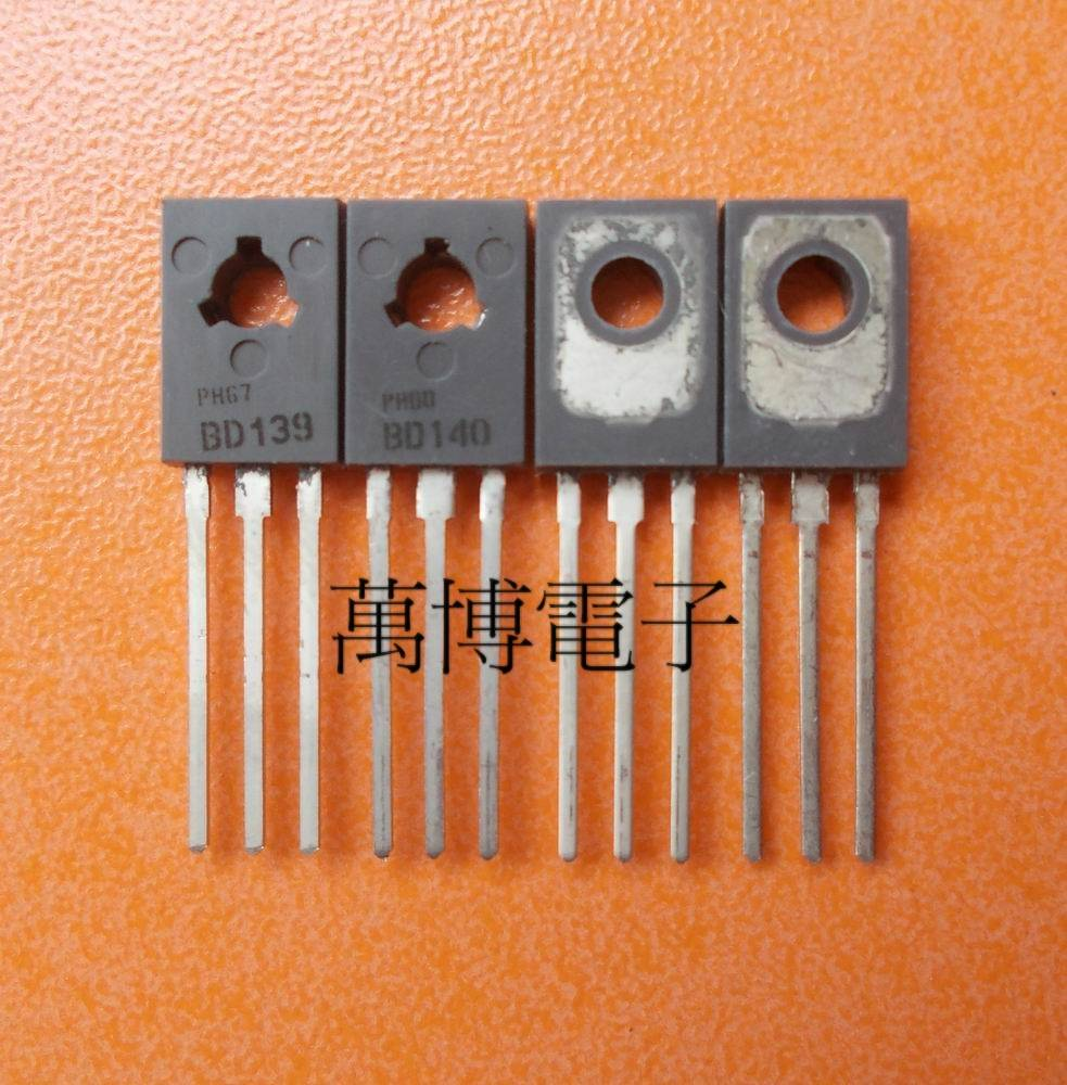 30pair 10pair Netherlands Original old BD139 BD140 TO 126 Audio power amplifier pair transistor free shipping in Integrated Circuits from Electronic Components Supplies