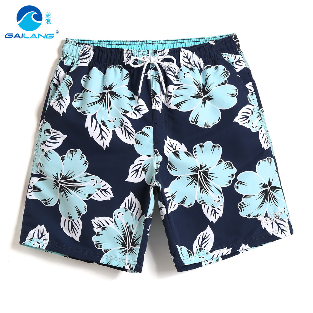 Bathing suit Men's swimming trunks hawaiian bermudas breathable   board     shorts   swimsuit sexy mesh   shorts   printed briefs fitness
