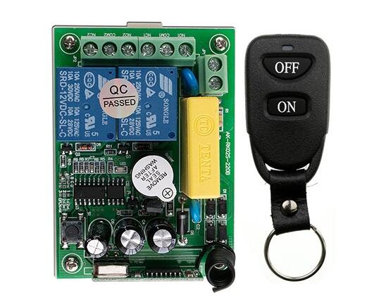 New AC220V 2CH 10A Remote Control Light Switch Relay Output Radio Receiver Module and Belt buckle Transmitter цены