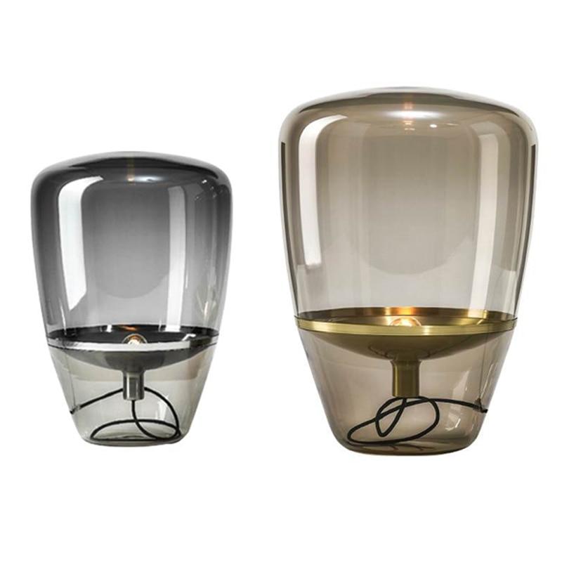 Nordic Glass Lampshade Table Lamp Post Modern Desk Lamp For Living Room Office Decor Bedside Creative Lighting Design Lamp