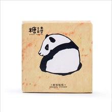 45pcs/lot cute panda mini box paper sticker Decoration DIY Scrapbooking Sticker Stationery office kawaii label stickers