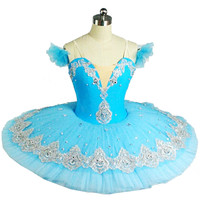 Professional Ballet Tutu Blue Adult Swan Lake Ballet Dance Clothes For Girls Pancake Child Tutu Skirt Women Costumes Ballerina
