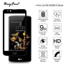 For LG K8 Case Full Coverage Tempered Glass Film For LG K8 K350N K 8 4G LTE 5.0inch Phone Screen Protector Toughened Film Guard