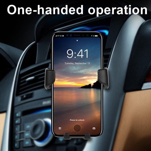 Universal Car Phone Holder Gravity Car Air Vent Mount In Car For Iphone X 8 Samsung Xiaomi One hand Operate Phone Stand Bracket 5