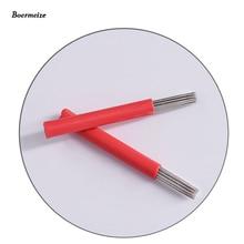 수동 펜 R18 베벨 라운드 바늘 50pcs 반 영구 메이크업 수동 안개 펜 니들 Microblading 메이크업 아이 브로우 펜