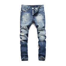 f8ce86703ec33 2018 Nouvelle Arrivée Mode Dsel Marque Hommes Jeans Lavé Imprimé Jeans Pour  Hommes Pantalons Décontractés Italien