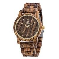 2016 Hot Sell Men Dress Watch UWOOD Men S Wooden WristWatch Quartz Wood Watch Men Natural