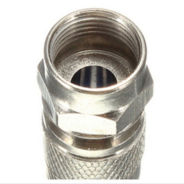 10 unids/lote conector Coaxial de compresión conectores de anillo O F RG6 Cable conecta TU tienda