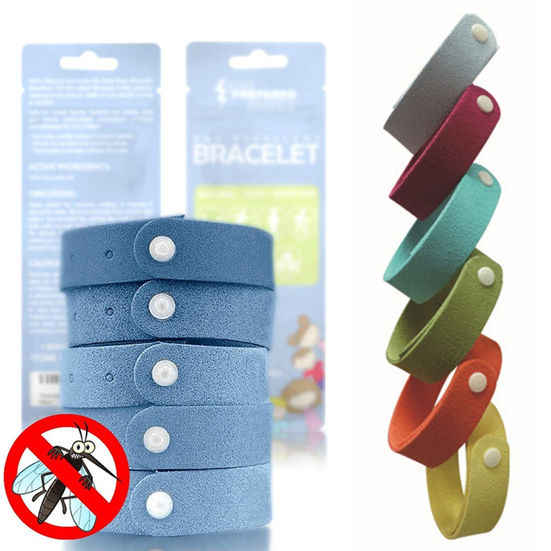 5pcs / lot Mosquito Killer Mosquito Repellent Bracelet Mosquito Bangle Wrist For Adult Protector