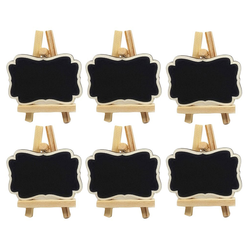 PPYY NEW -Mini Rectangle Chalkboards Place Cards With Easel For Wedding, Parties, Table Top Numbers, Food Signs, Decorating Si