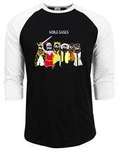 Noble Gases Shirt 2017 summer autumn funny brand clothing Science Shirt Chemistry T Noble Gas raglan sleeve fashion t shirts men