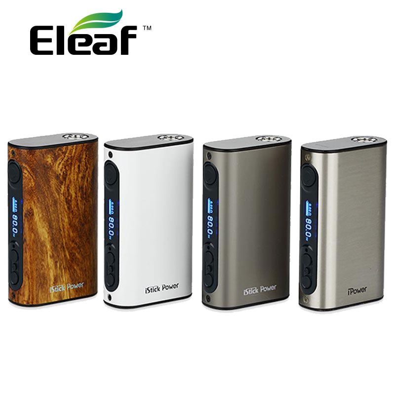 Eleaf iPower 80W TC MOD 5000mAh بطارية مدمجة السيجارة الإلكترونية eleaf istick ipower Box Mod for Melo 3 Tank vs IKuun I200