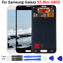 Replacement Super AMOLED LCD For Samsung Galaxy S5 Mini G800 G800F G800H LCD Display Screen Touch Digitizer Assembly S5 MINI LCD original genuine lcd screen display with touch digitizer assembly for samsung galaxy s5 active g870a g870 ship by dhl ems