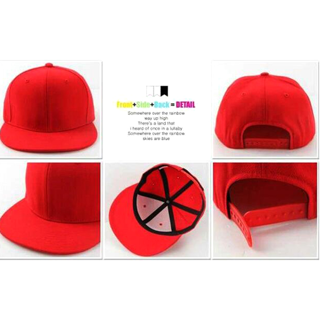 baea797409ea6d Hot Sale Spring Summer Pure Color Caps Flat Hip Hop Style Hat Europe Style  Cowboy Hats Baseball Cap 15 Colors Adjustable-in Baseball Caps from Sports  ...