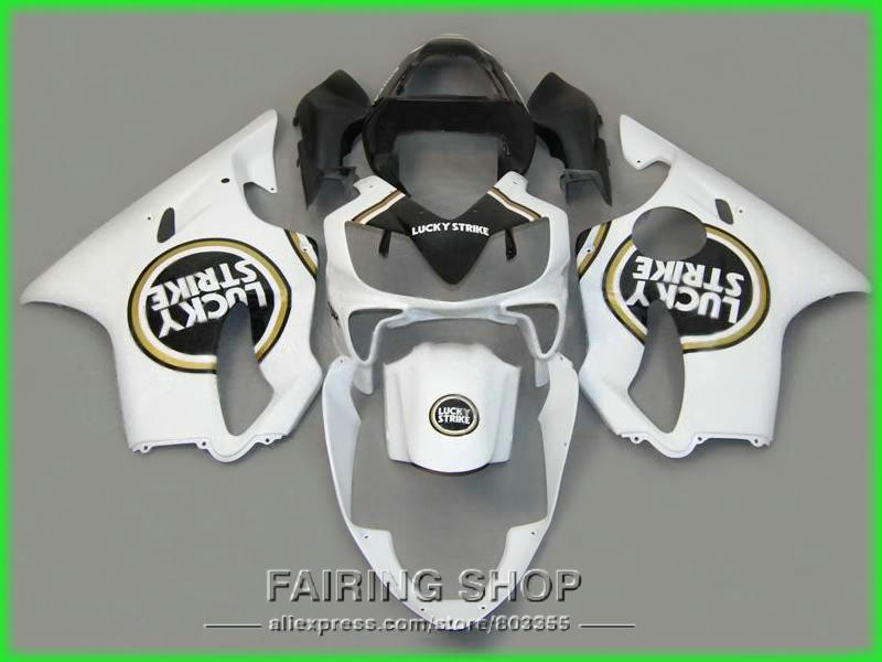 Injection fairing kit for Honda Fairings CBR 600F 4i 2003 2002 2001 ( LUCKY ) cbr600 f4i 01 02 03 High quality ll92 rinzo c 00060 tt334 white