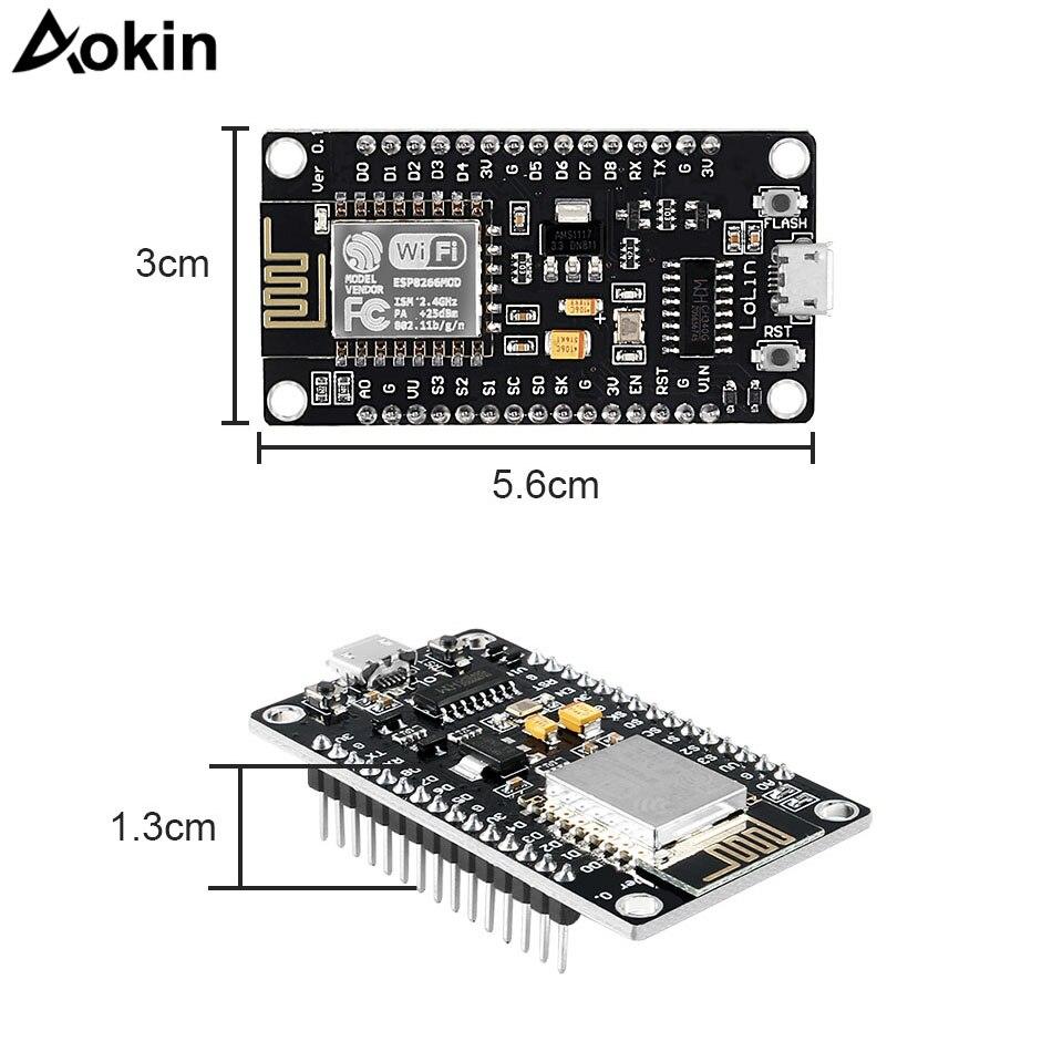 Беспроводной модуль NodeMcu v3 Lua WiFi Интернет вещей Совет по развитию ESP8266 с антенной pcb usb порт ESP-12F CH340