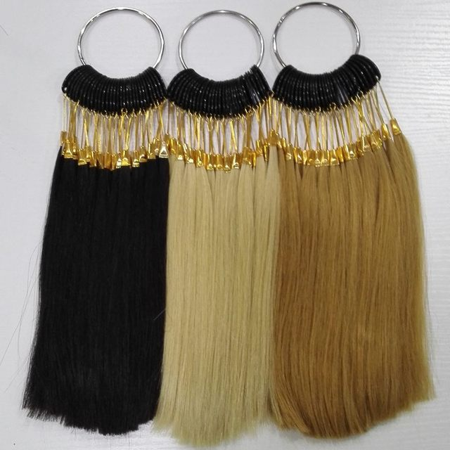 8 inch human hair color ring 30pcs/set for salon hair  color chart natural 3colo/lot
