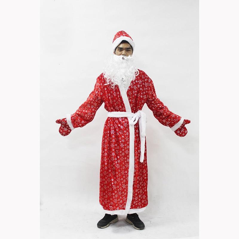 Russia Christmas Santa Claus Costumes Cosplay Santa Claus Clothes Fancy Dress In Christmas Men 5 Pieces