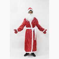 Russia Christmas Santa Claus Costume Cosplay Santa Claus Clothes Fancy Dress In Christmas Men 5pcs/lot Costume Suit For Adults